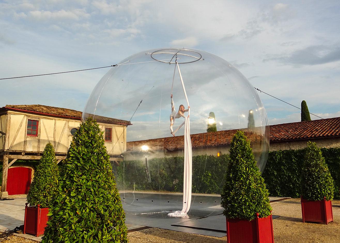 Tissu aérien bulle - Eklabul Evénements