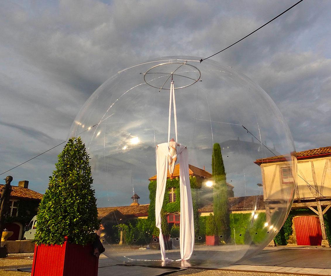 Tissu aérien bulle de jour