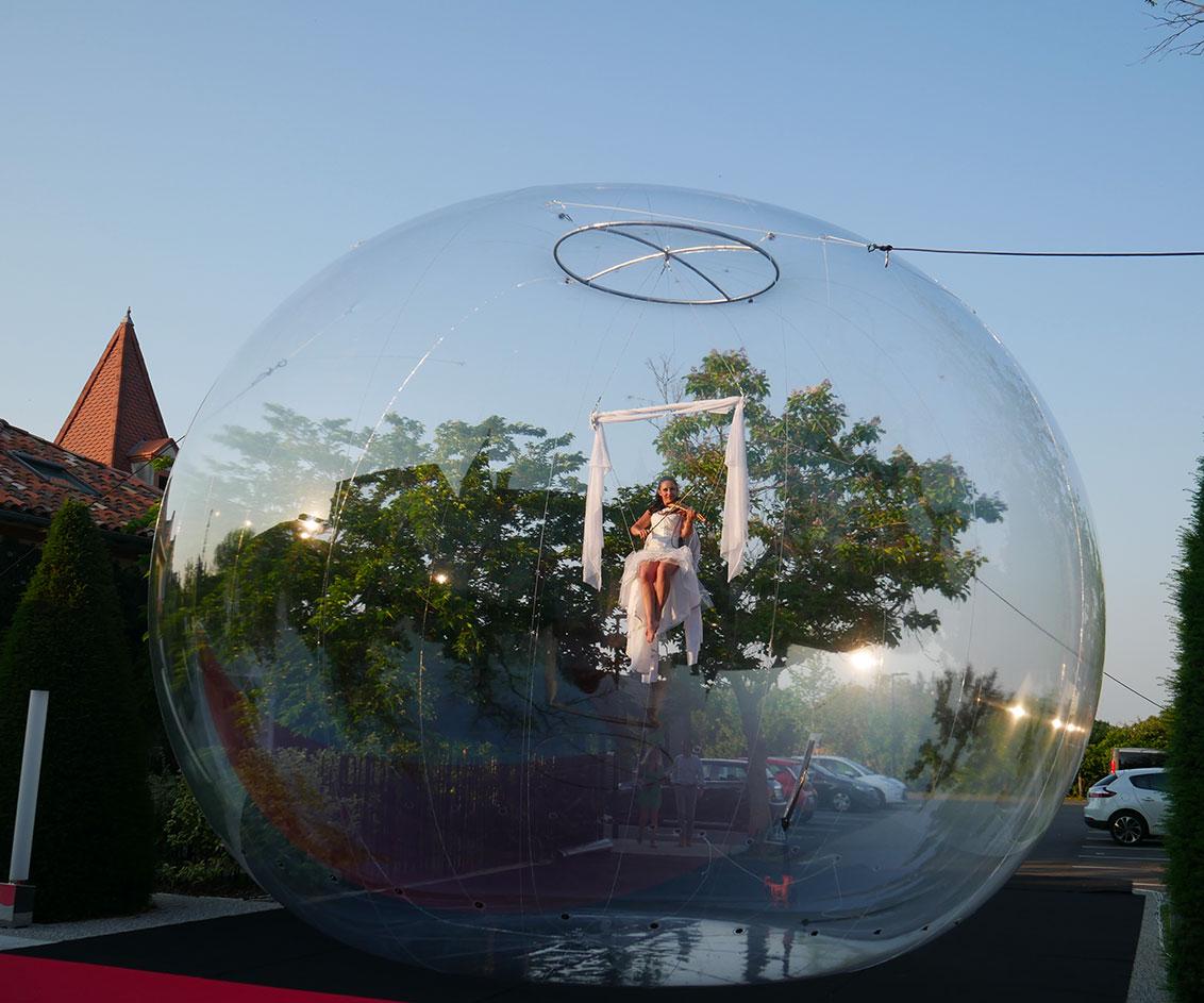 Violon aérien bulle de jour