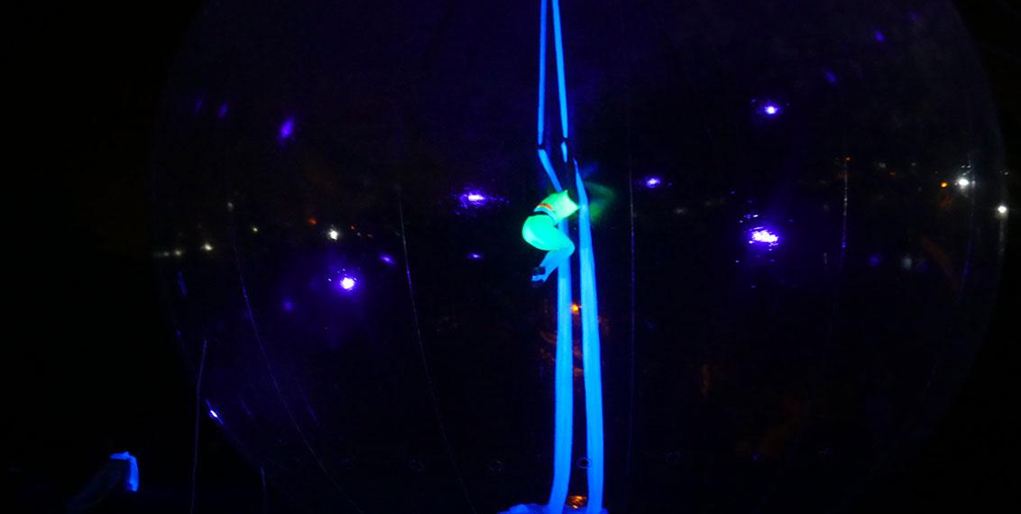 Tissu aérien bulle de nuit - Eklabul Evénements