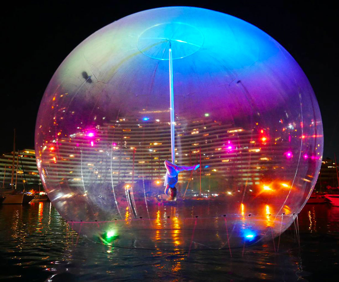 Atmo2sphere - Eklabul - Bulle géante sur l'eau